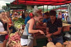 UW-La Crosse women's soccer trip - Farmers Market 1