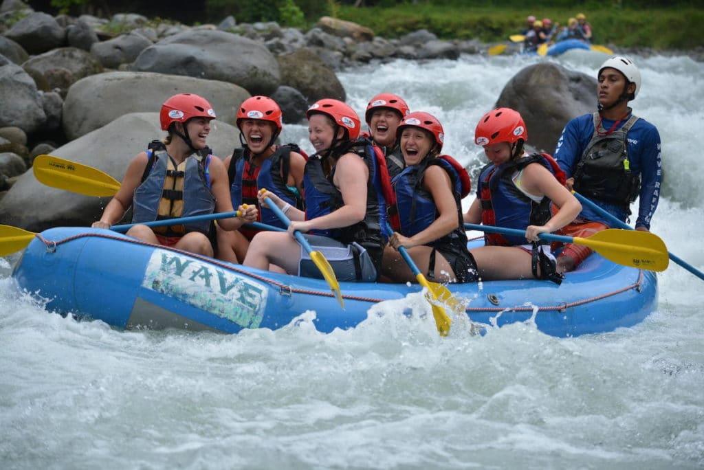 Coe College Women's Soccer Trip - White Water Rafting in Costa Rica