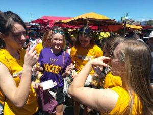 Minnesota State University women's soccer trip - farmer's market