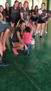 Idaho State University Women's Soccer Trip - community service