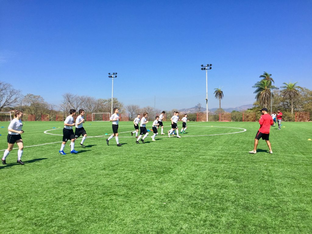 Newbridge Soccer Academy training session.