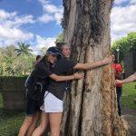 Arsenal FC Premier Girls hugging a tree