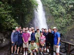 ODP South Region boys exploring La Paz Waterfall Gardens